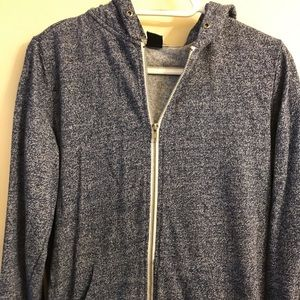 Zine Size L lightweight thin cotton jacket w/hood
